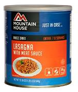 Mountain House #10 can of lasagna