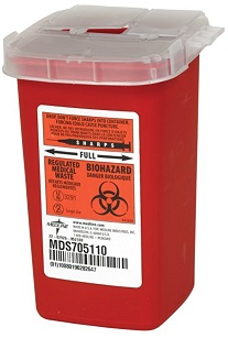 Diabetic supplies biohazard box