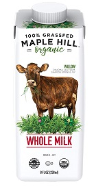 Maple Hill's shelf stable grass-fed organic milk