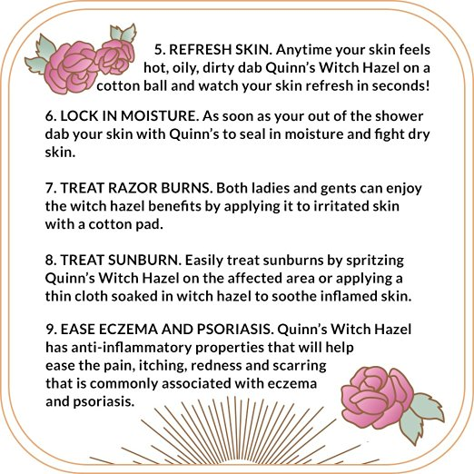 Reasons to use witch hazel