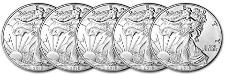 Set of 5 American Silver Eagles