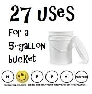 27 uses for a five gallon bucket