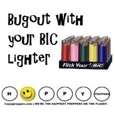 BIC lighters belong in your bugout bag