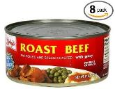 Roast beef in a can