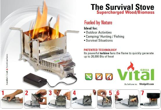 Vital Grill Survival camp stove