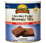 Brownie mix in a #10 can