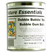 Dubble Bubble Gum balls in #10 can