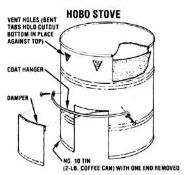 Buddy Burner , Vagabond Stove or Hobo Stove