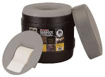 Camping toilet for temporary off grid use