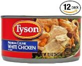 Tyson premium chunk white canned chicken 12-pack