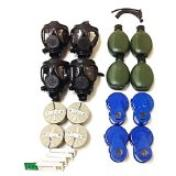 Complete family gas mask kit