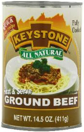 Ground beef in a can