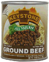 Keystone Ground beef in can!