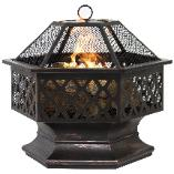 Popular hexagon-shaped firepit
