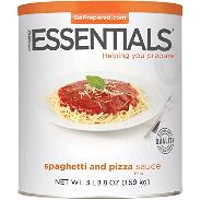 Emergency Essential Spaghetti and pizza sauce