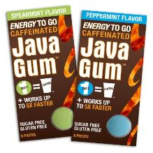 Java gum equals a cup of coffee