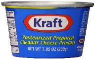 Kraft cheddar cheese in a can