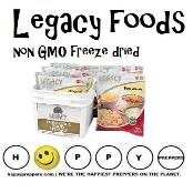 Legacy non-gmo freeze dried foods