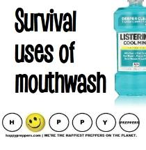 Survival uses of mouthwash