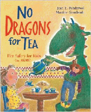 Fire safety book for kids - No dragons for Tea