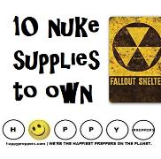 Ten nuke supplies to own ~ supplies necessary to survive nuclear fallout