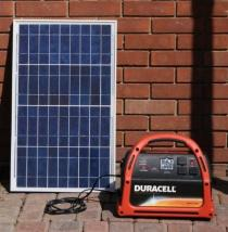 Off grid solar charger for generator