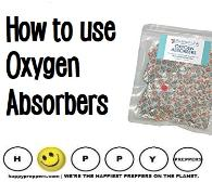 How to use oxygen absorbers