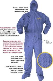 Bloodborne Pathogen and Chemical Protective Coverall