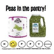 Peas in the prepper's pantry