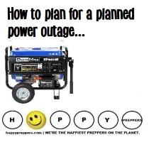 How to plan for a planned power outage