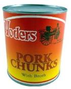 Canned pork chunks