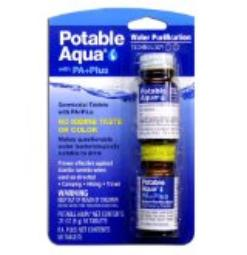 Potable water tablets