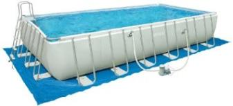 24-Foot by 12-Foot by 52-Inch Rectangular Ultra Frame Pool