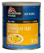 Mountain House #10 can of scrambled eggs and bacon