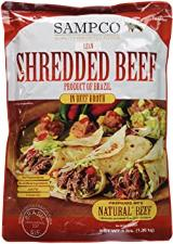 Shredded beef in beef broth