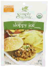 Simply Organic in bulk sloppy joe mix