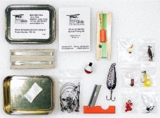 Survival fishing kit contents