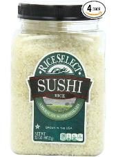 rice food storage 4-pack of sushi rice