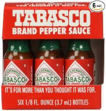 Tabasco sauce mini bottles