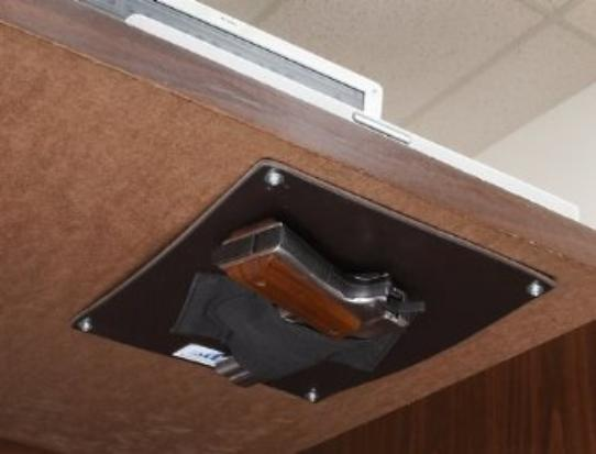 Under the desk holster