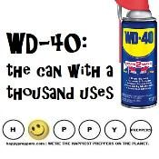 WD-40 ~ the can with a thousand prepping uses
