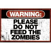 Zombie sign - novelty