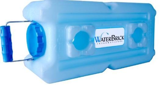 Water brick storage idea