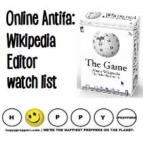 Wikipedia Antifa Editor's Watch List