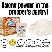 Baking powder in the prepper's pantry
