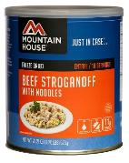 Mountain House #10 can of beef stroganoff