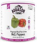 Freeze dried bell peppers
