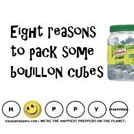 Eight Reasons to pack bouillon cubes