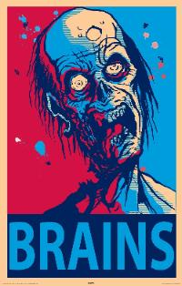 Brain eating zombie print