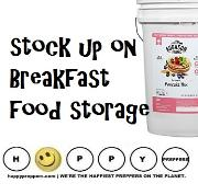 Stock up on Breakfast Food Storage